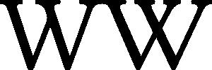 Normales und angepasstes W aus der speziellen Wikimedia-Version von Linux Libertine